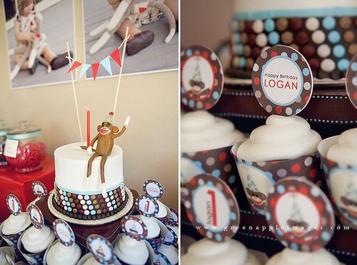 Erste Ideen für eine Geburtstagsfeier: Sockenaffe, so süß!