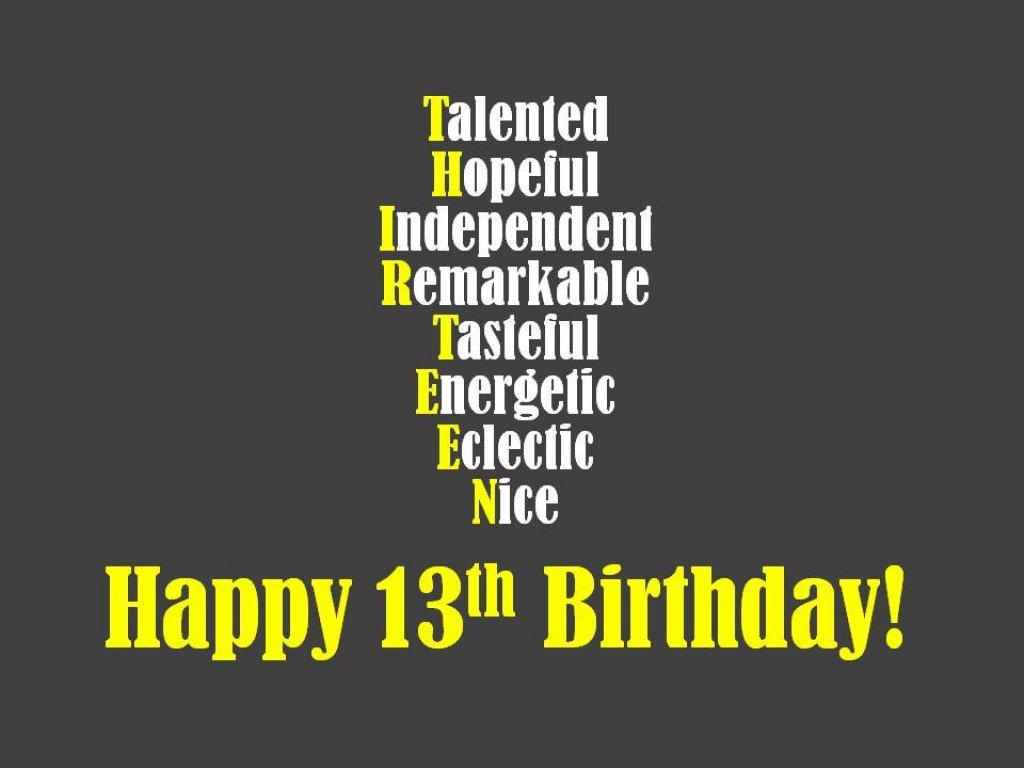 Geburtstagswunsche zum 13 geburtstag