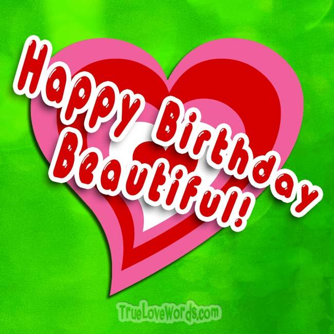 Happy Birthday Beautiful - Birthday wishes for girlfriend