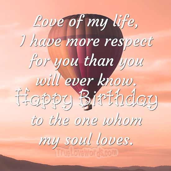Herzlichen Glückwunsch zum Geburtstag, den meine Seele liebt