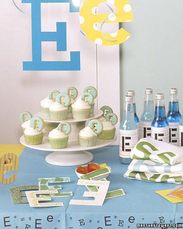 Erste Ideen für eine Geburtstagsfeier: die erste Initiale zu allem