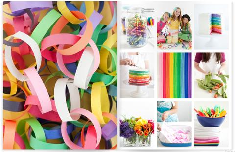 First birthday party ideas - rainbow decor