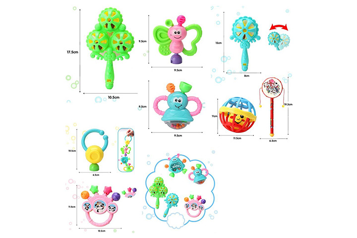 Rattle Drum Educational Toys 3 6 12 Months Teether Baby Random Color