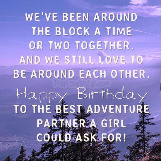 Herzlichen Glückwunsch zum besten Abenteuerpartner, den ein Mädchen sich wünschen kann!