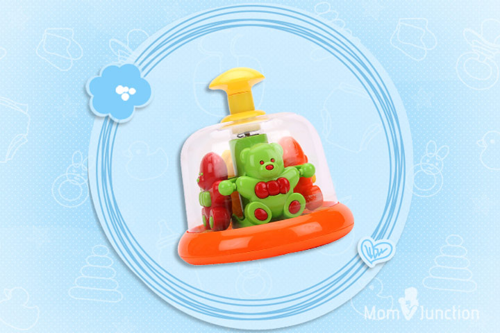Best Toys For Babies - Fab N Funky Press And Spin Toy Teddy